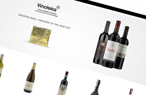 """Vinoteka 13 """"Wina dobrze ułożone"""" przez Ewosoft"""